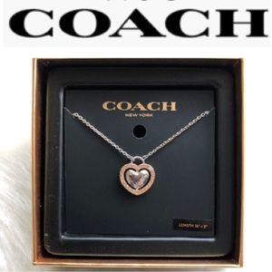 COACH DOUBLE HEART NECKLACE